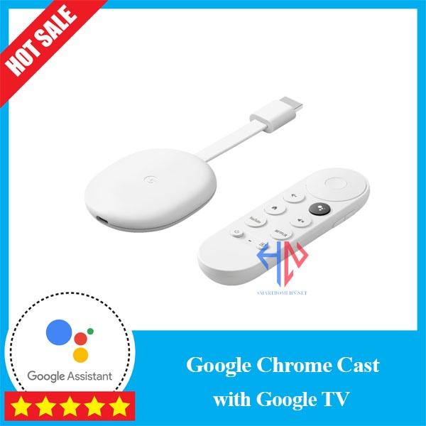 [Google Chromecast] with Google TV, 4K HDR, ra lệnh Tiếng Việt, có Remote thế hệ mới . Bảo hành 12 tháng