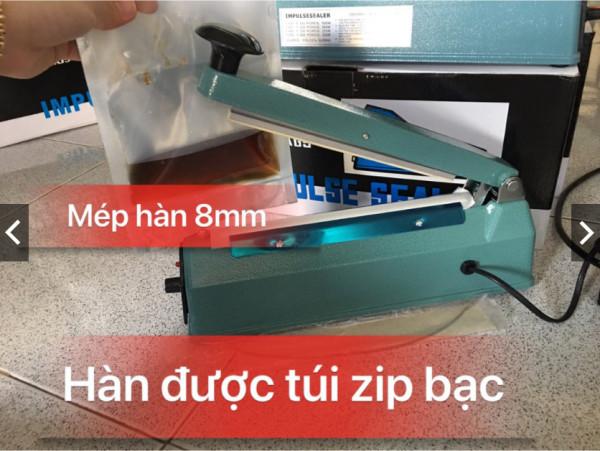 [Máy hàn mép túi DÀI 20CM RỘNG 8MM VỎ SẮT] máy ép miệng bao nilon, máy ép bao ZIP