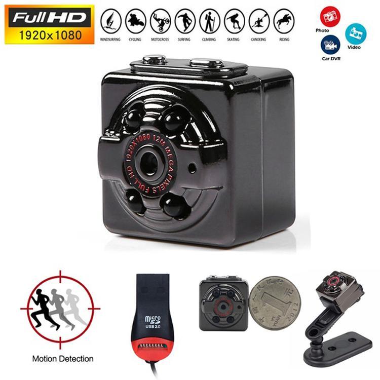 Camera mini siêu nhỏ SQ8 HD1080P hình ảnh rõ nét Quay cả ban ngày và ban đêm (camera Hành trình và kiêm camera an ninh)