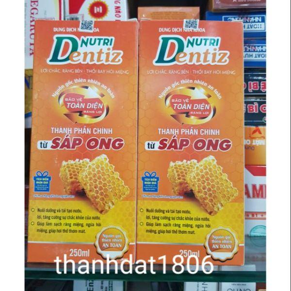 Nutridentiz nước súc miệng từ keo ong thổi bay hôi miệng Nutri dentiz