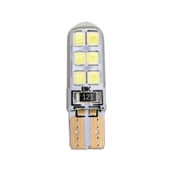 BÓNG LED T10 Đèn Xi Nhan, Đèn Demi, Đèn Biển Số Siêu Sáng Cho Ô Tô, Xe Máy Chân T10, 12 chip SMD Bọc Silicon (Giá 1 Bóng)
