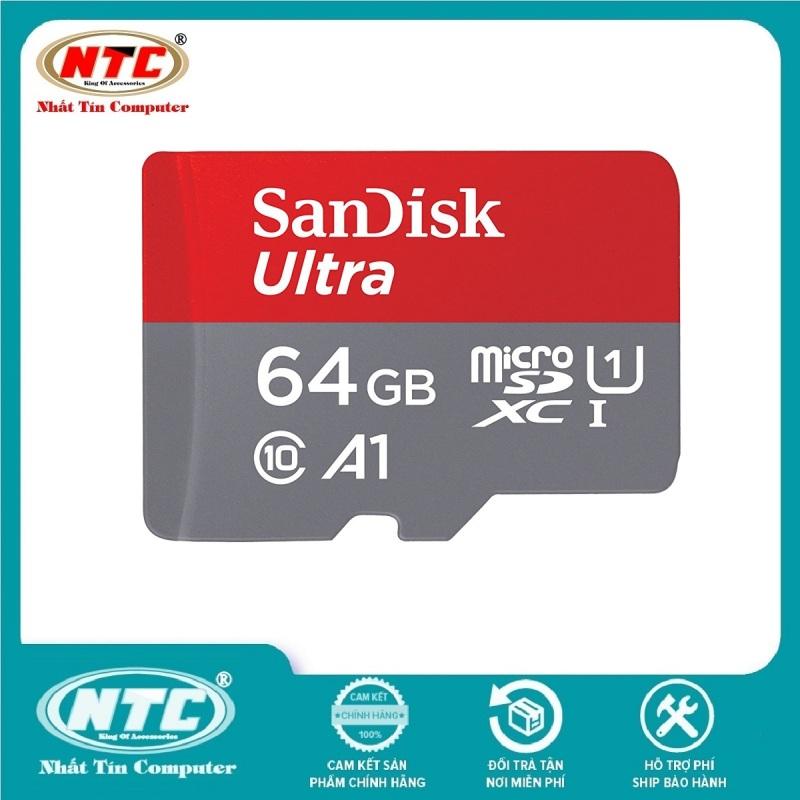 Thẻ nhớ MicroSDXC SanDisk Ultra A1 64GB Class 10 U1 100MB/s - Không Box (Đỏ) - Nhất Tín Computer