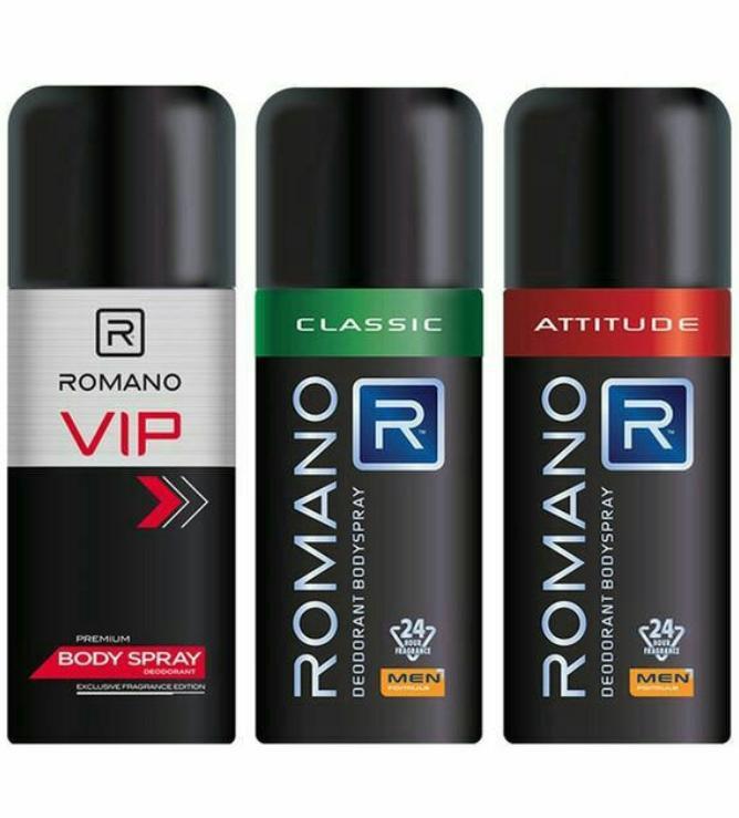 Xịt khử mùi toàn thân Ro-ma-no 150ml tặng nước hoa bỏ túi 18ml