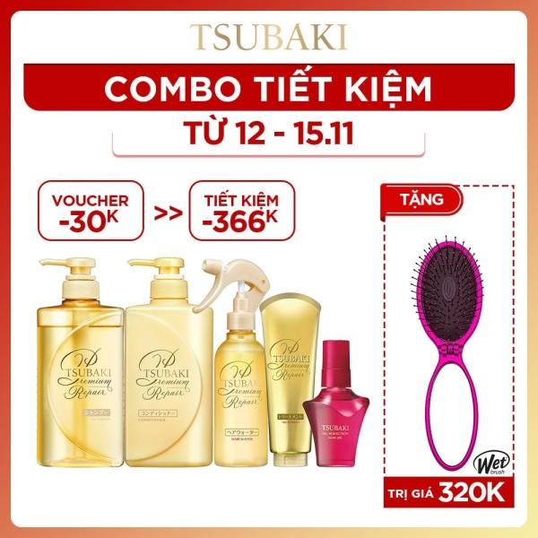 [COMBO TIẾT KIỆM] Bộ sản phẩm Phục hồi tóc ngăn rụng tóc chuyên sâu Tsubaki dưỡng tóc bóng mượt hoàn hảo giá rẻ