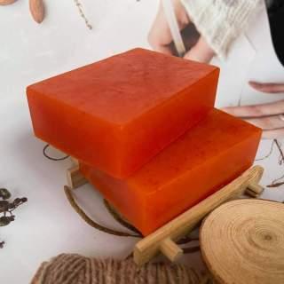 Xà bông nghệ tây Saffron Hoa Hồng Bồ Hòn Bếp Xanh dùng rửa mặt, tắm, giảm mụn, mờ vết nám thâm, cực dưỡng ẩm và làm sáng mịn da, se khít lỗ chân lông, mùi tinh dầu hoa hồng, dạng bánh 120gr thumbnail