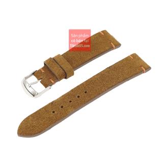 Dây đồng hồ da lộn Vintage không chỉ viền ( chọn size 18mm - 20mm - 22mm - 24mm) thumbnail