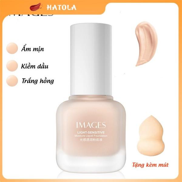 HATOLA - Kem nền che khuyết điểm nam nữ Image kiềm dầu, kháng nước lây trôi, tạo lớp phủ trắng hồng HTL-KN-IMAGES1