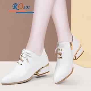 Giày bốt nữ cổ ngắn hàng hiệu Rosata RO301