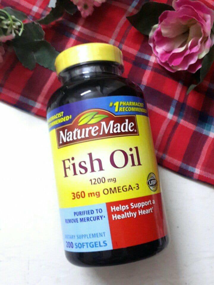 VIÊN UỐNG DẦU CÁ NATURE MADE FISH OIL 360MG OMEGA 3 chính hãng