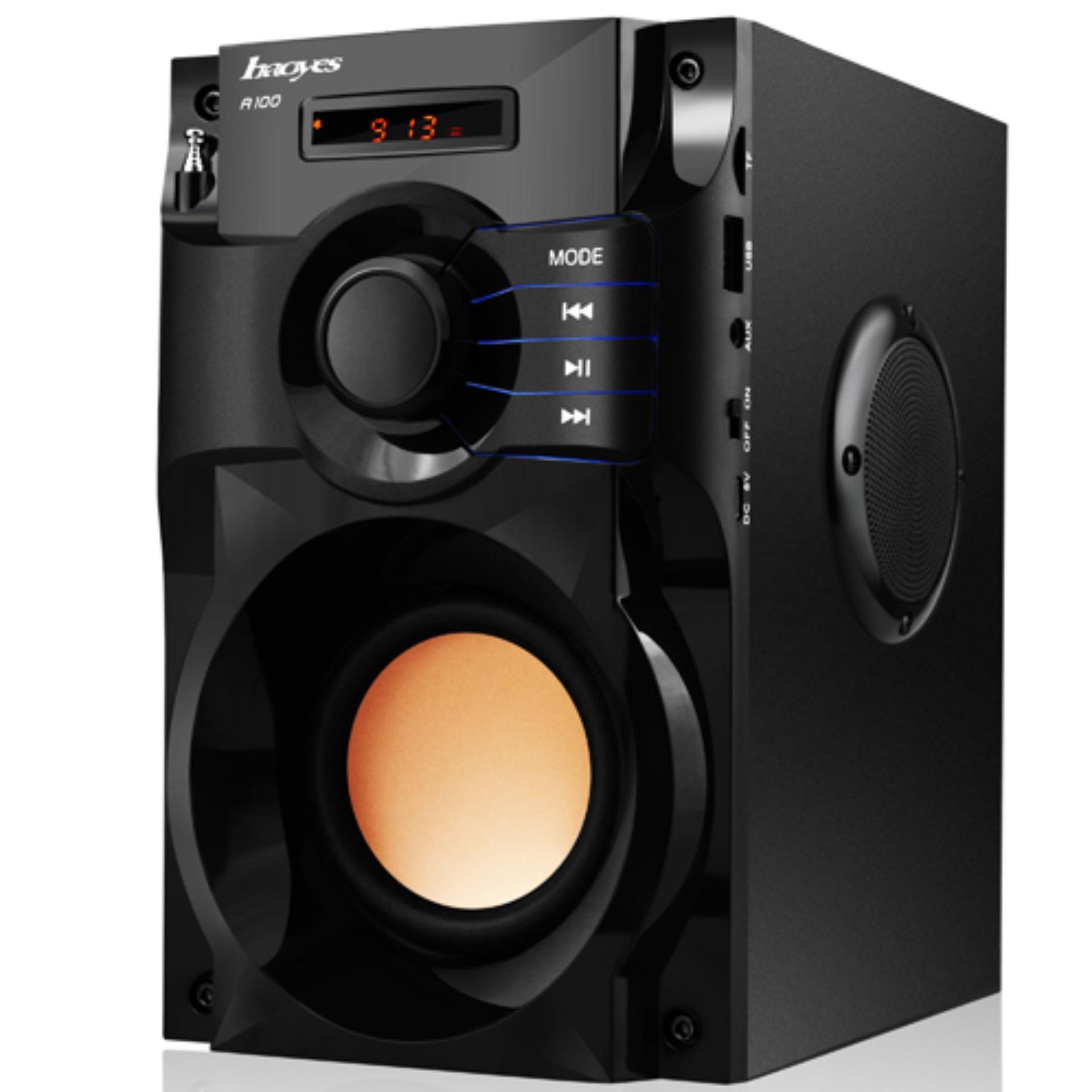 Loa nghe nhạc mạnh siêu bass , Loa Bluetooth NA100 10W x 3 loa vệ tinh - Bluetooth 4.0 OM100 676, Loa Bluetooth Fm - Loa nghe nhạc cao cấp, âm thanh 3 trong 1 ( Hàng Chất)