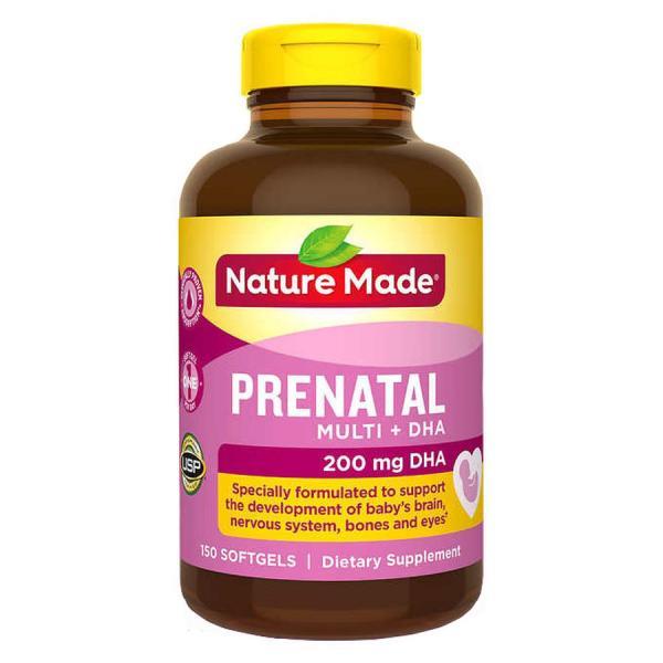 Vitamin cho bà bầu Nature Made Prenatal Multi DHA 150 viên