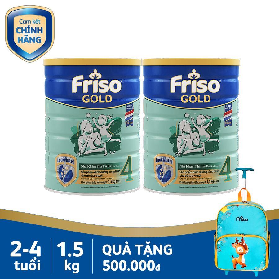 Lazada Ưu Đãi Khi Mua Bộ 2 Lon Sữa Bột Friso Gold 4 1.5kg + Tặng 1 Vali Kéo Cho Bé