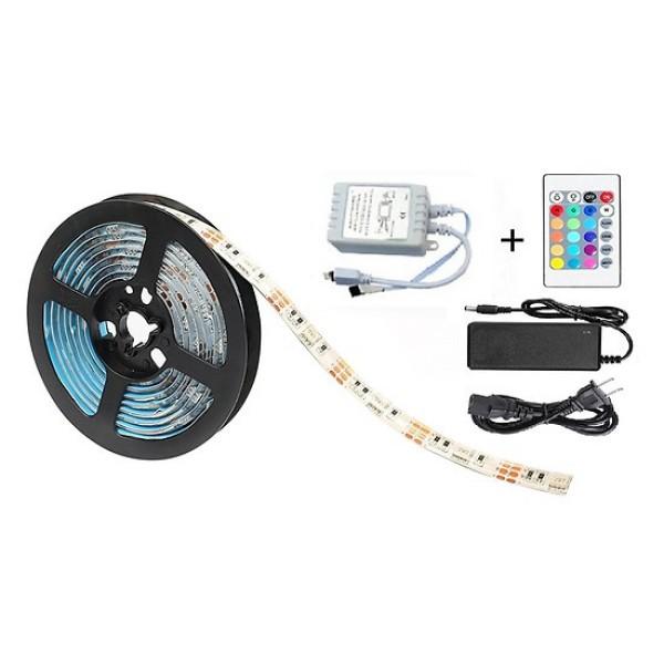 Bộ đèn LED dây dán 5050 phủ keo silicon đổi 7 màu V-L-D-RGB (RGB)+Nguồn+Khiển
