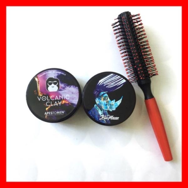 💥Combo 2 Sáp Vuốt Tóc Nam Blumaan Styling Meraki (Bản Tê Giác Xanh ), Vocalic Clay Tặng Kèm Lược TrònGiữ form cho tóc dễ dàng và cực lâu , Dễ dàng sử dụng, Kéo dài thời gian giữ nếp cho mái tóc, Dễ dàng gội rửa giúp dưỡng tóc giá rẻ