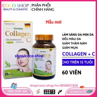 Viên uống trắng da collagen + C 60 viên - collagen ngăn ngừa lão hóa chống nám tàn nhang thumbnail
