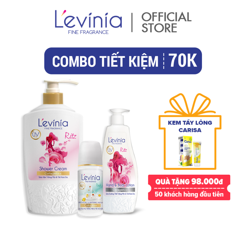 [Combo tiết kiệm 70k] Combo Trẻ Trung Ritz Levinia nhập khẩu