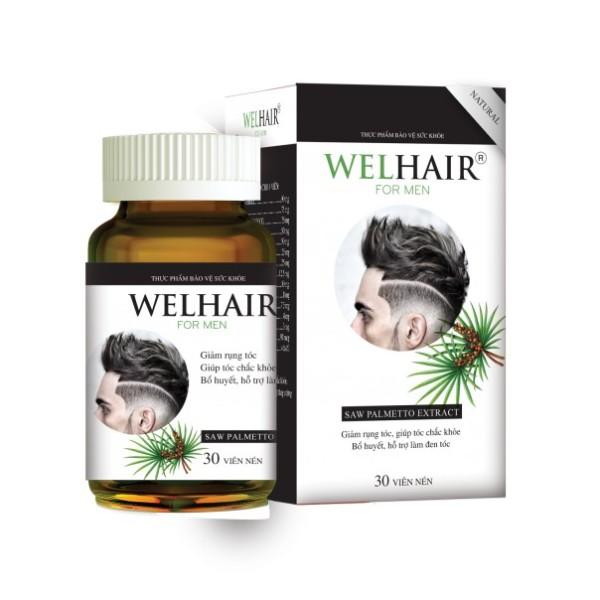 Welhair for Men – Hỗ trợ mọc tóc cho nam, ngăn ngừa rụng tóc, giúp tóc chắc khỏe  (Hộp 30 viên)