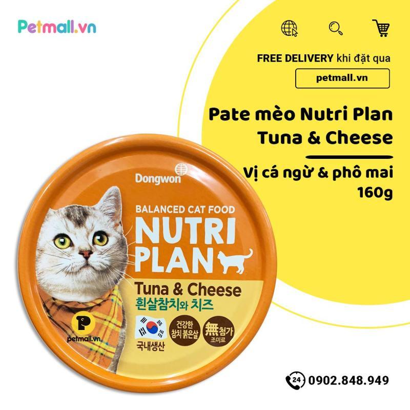 Pate mèo Nutri Plan Tuna & Cheese - 160g
