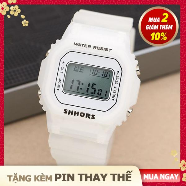 Nơi bán [Tặng kèm pin thay thế] Đồng Hồ Điện Tử Thể Thao Nữ Đẹp Giá Rẻ SHHORS - 5 Màu Thời Trang - Bảo Hàng 12 Tháng
