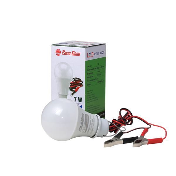 Bóng đèn LED kẹp bình ắc quy 12-24VDC Rạng Đông công suất 7W-9W-12W