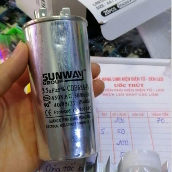 Tụ điều hòa 35uf 450v Sunway