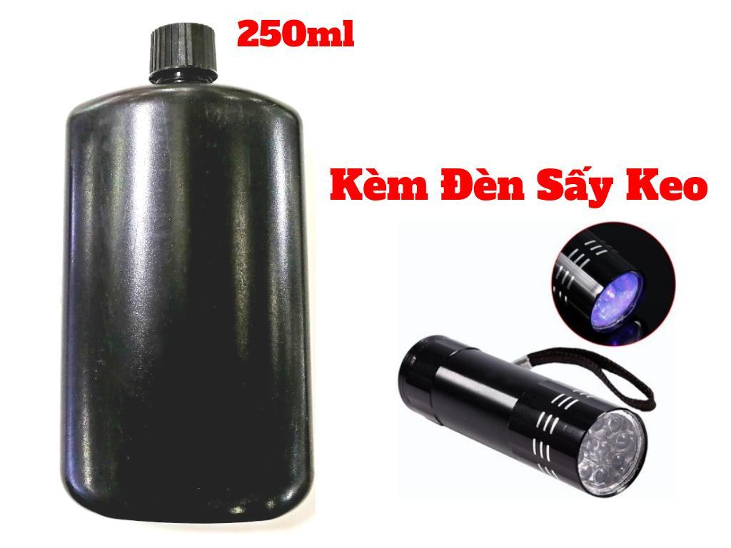 Combo Keo UV 250ml Kèm Đèn Sấy Keo UV