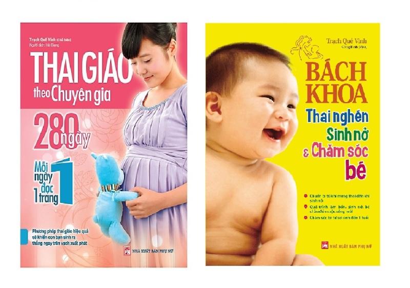 Sách Combo Thai Giáo Theo Chuyên Gia - 280 Ngày - Mỗi Ngày Đọc Một Trang + Bách Khoa Thai Nghén - Sinh Nở Và Chăm Sóc Em Bé  - Mhbooks tặng sổ tay