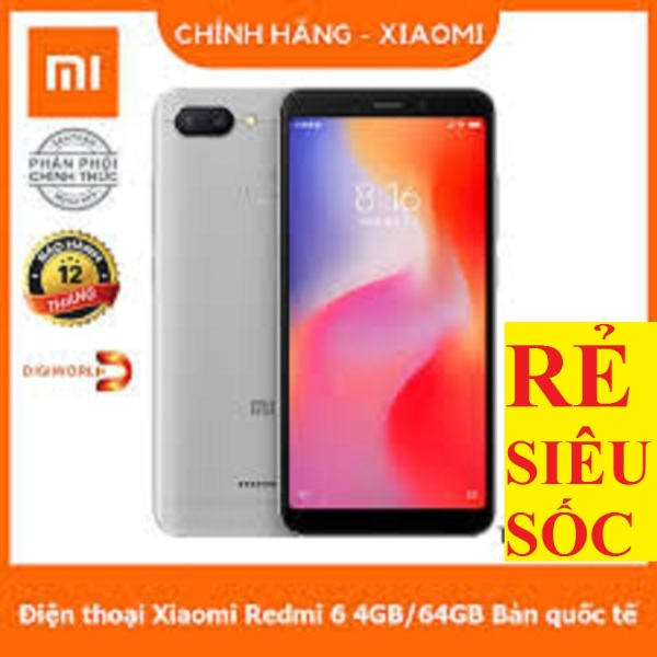 XIAOMI REDMI 6 2sim ram 3G/32G mới, Có Tiếng Việt