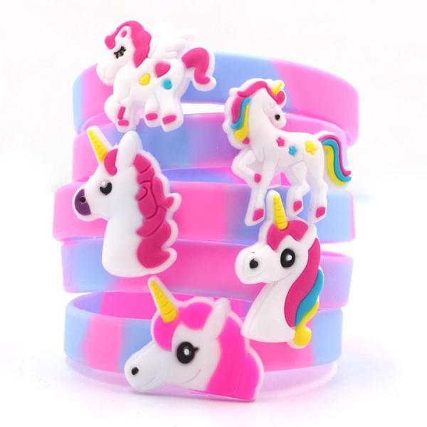 Giá bán Vòng tay silicon hình Unicorn màu sắc kỳ ảo ngộ nghĩnh cho bé gái BBShine – J020