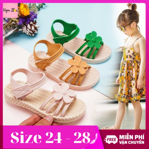 Sandal hoa cực xinh xắn cho bé gái - Xăng đan bé gái phong cách Hàn Quốc