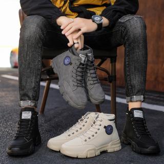 Giày cao cổ nam Denim ARS da cao cấp kiểu dáng thời trang phong cách thumbnail