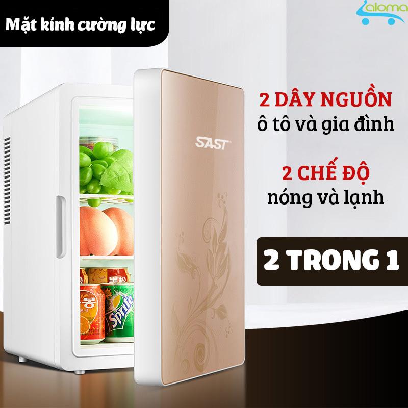 Tủ lạnh16 lít SAST ST16L làm lạnh hâm nóng 2 dây nguồn gia đình và trên ô tô