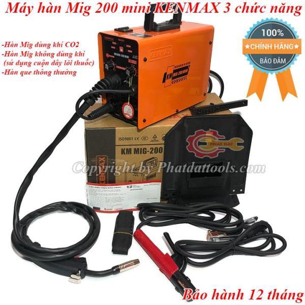 Máy hàn Mig mini 200 KENMAX 3 chức năng-Đầy đủ phụ kiện-Bảo hành 12 tháng