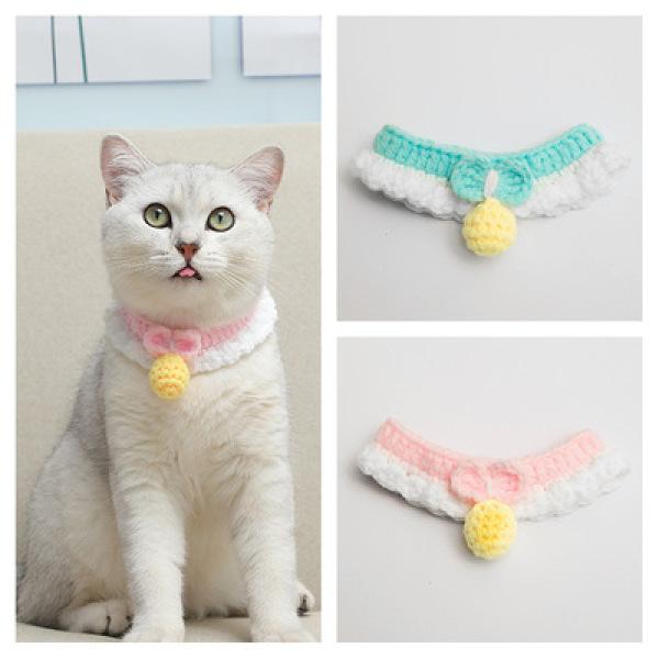 Yếm len hình giọt nước tinh xảo cho mèo VCO005