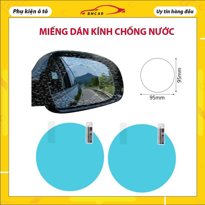 Bộ 2 miếng dán kính CHỐNG NƯỚC hình tròn cho ô tô, xe máy đảm bảo an toàn, sử dụng dễ dàng