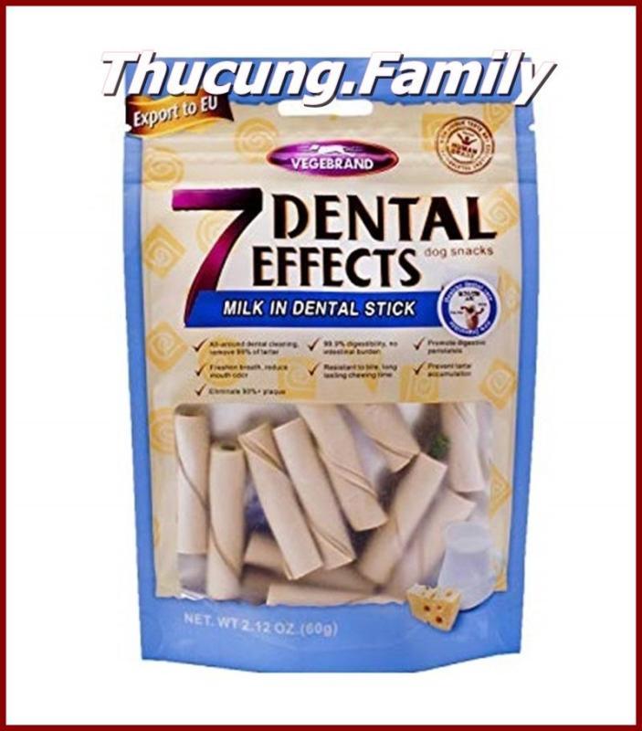 Bánh thưởng xương nhai làm sạch răng- hơi thở thơm tho cho Chó. 7 Dental. 60g/gói.