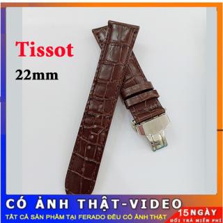 [SALE SỐC] Dây đồng hồ Tissot da cá sấu khóa bạc size 22mm siêu bền đẹp thumbnail