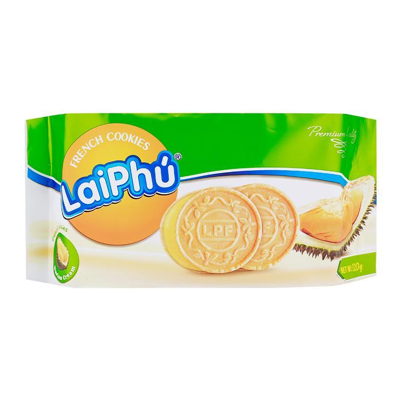 Bánh Cookies Lai Phú Sầu Riêng 120G