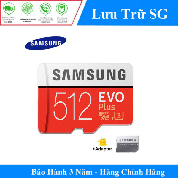 [Best Seller] Thẻ Nhớ MicroSDXC Samsung EVO Plus U3 512GB 100MB/s MB-MC512H - Hãng Phân Phối Chính Thức