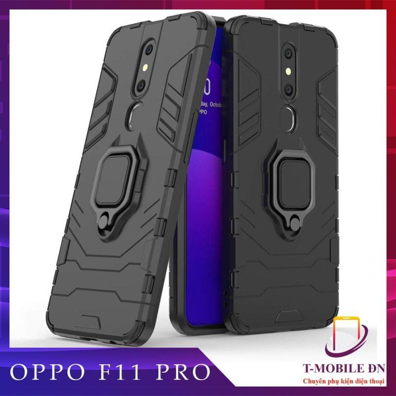 Giá Ốp lưng Oppo F11 Pro chống sốc iron man kèm nhẫn ring chống xem video tiện lợi