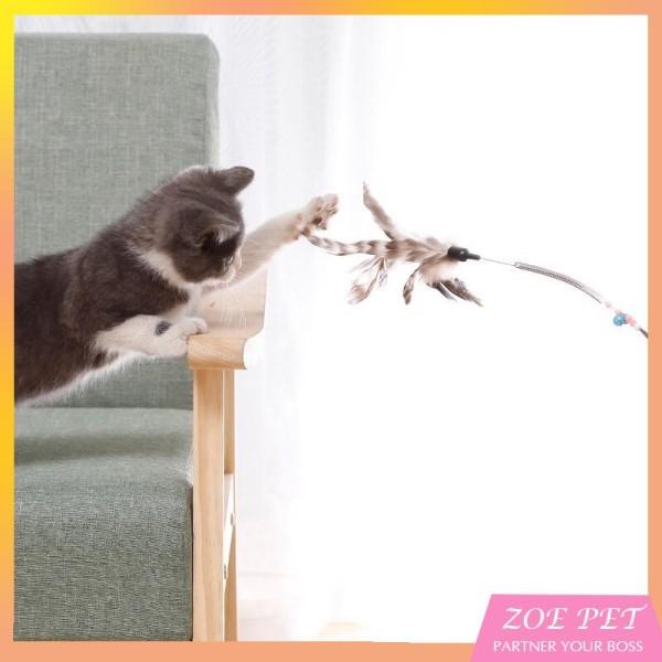 Cần Câu Mèo - Lông Vũ - Đồ Chơi Cho Mèo