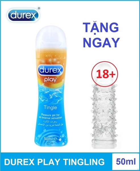 Combo 1 chai gel bôi trơn Durex Play Tingling 50ml tặng 1 bao cao su dung nhiều lần