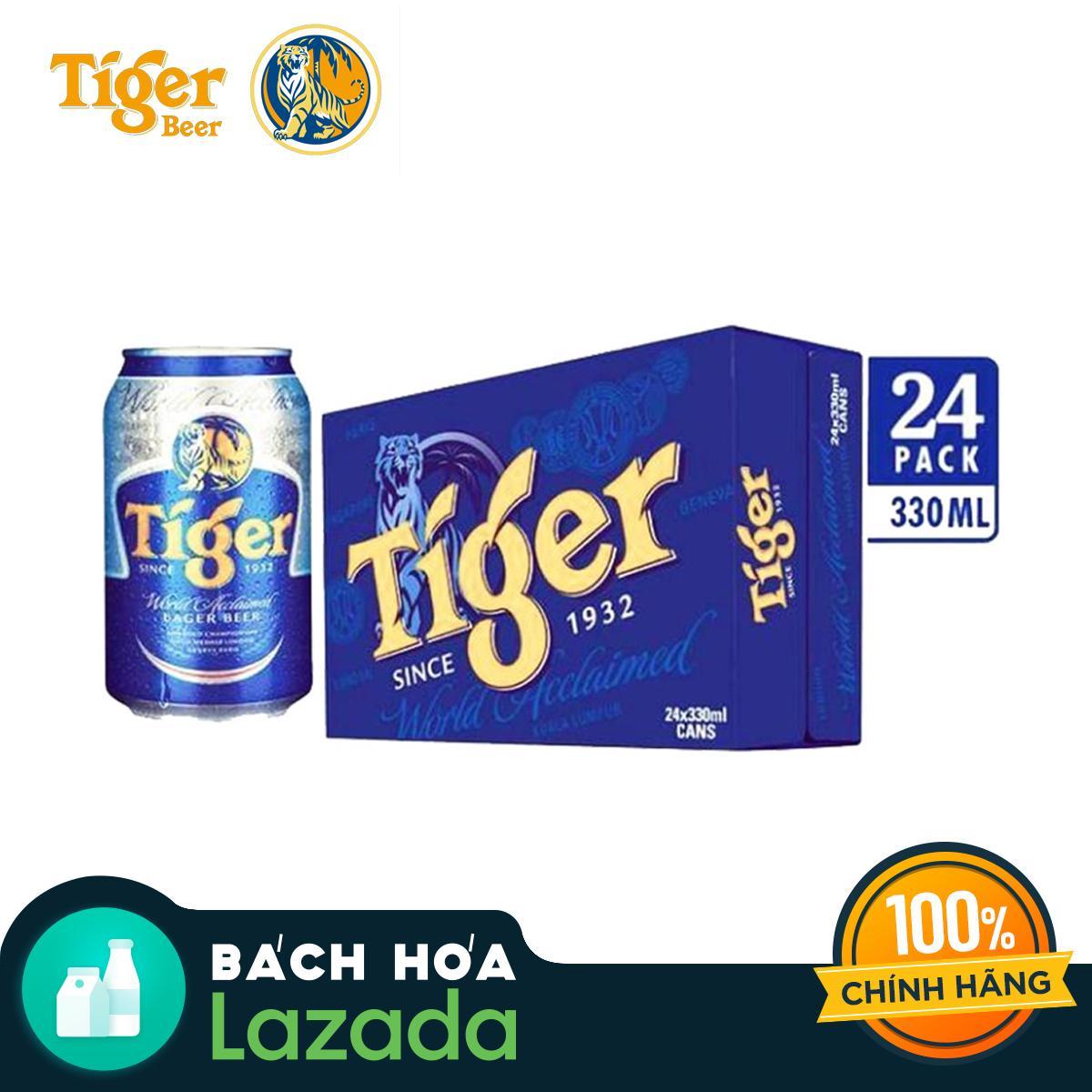 Thùng 24 Lon Bia Tiger 330ml Giá Giảm