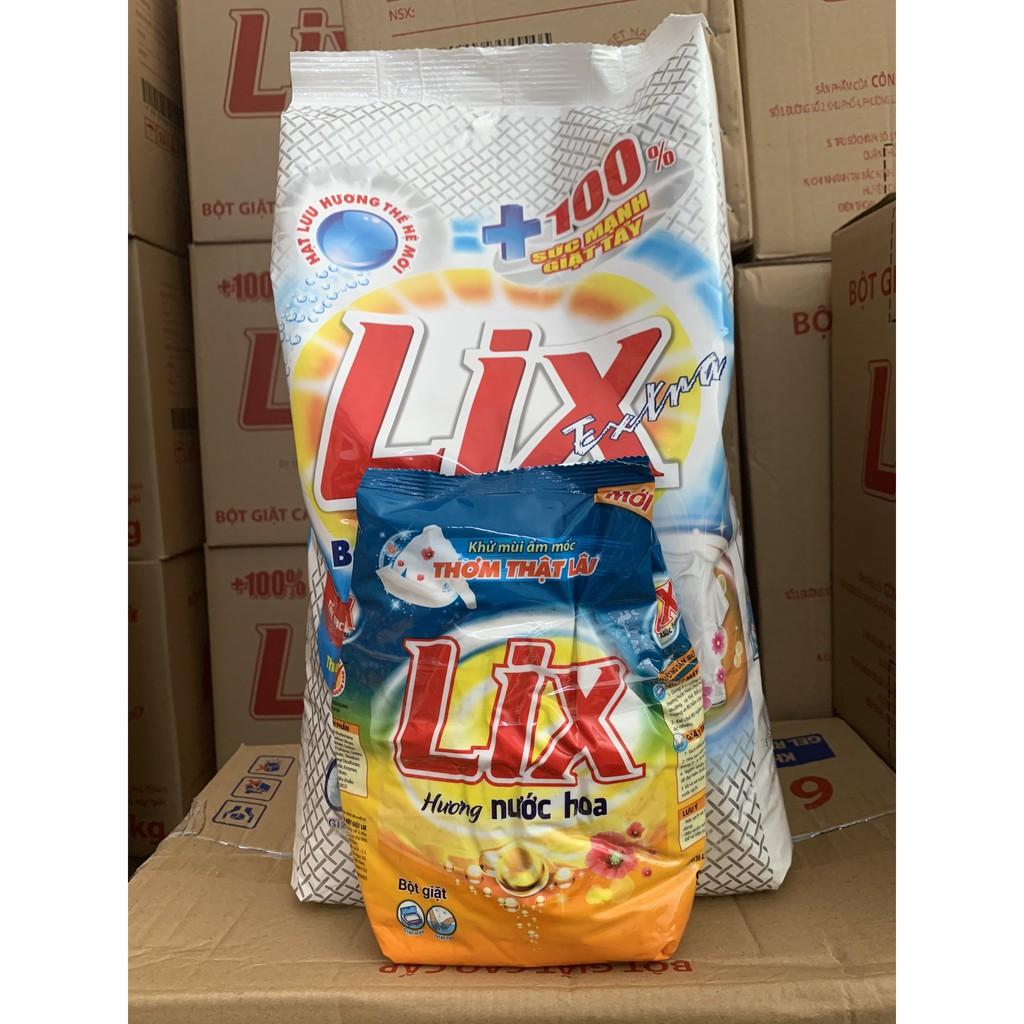 Deal Ưu Đãi Bột Giặt Lix Extra 6Kg TẶNG KÈM 1 Gói Bột Giặt Đậm Đặc Hương Nước Hoa 800gr