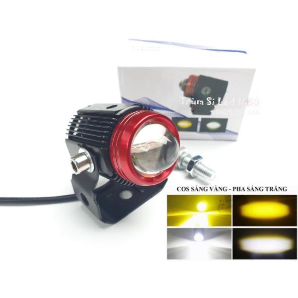 Đèn trợ sáng mini 2 nhiệt màu - tặng kèm công tắc