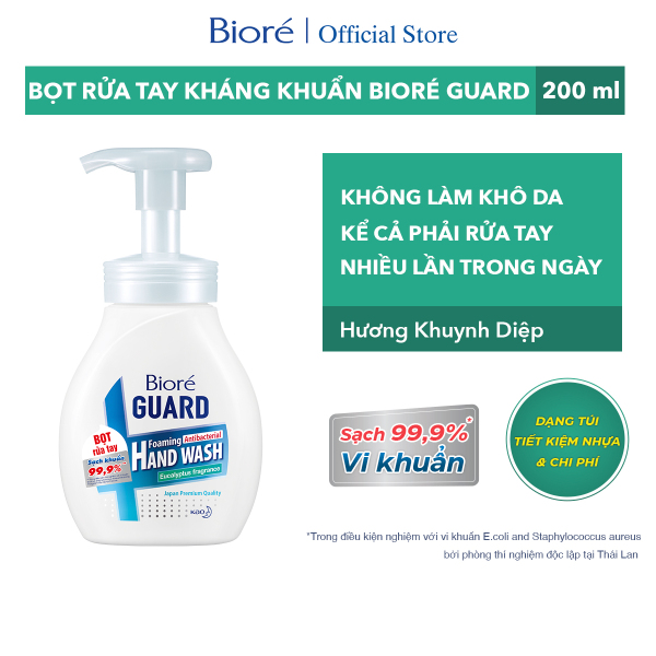 Bioré Bọt Rửa Tay Kháng Khuẩn Guard – Hương Khuynh Diệp (Chai) 250ml giá rẻ