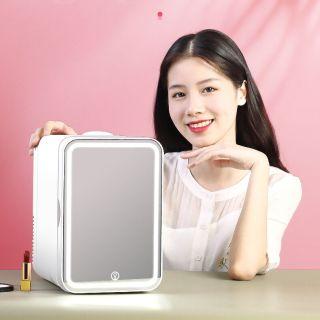 Tủ lạnh 8L - Tủ lạnh măt gương - Tủ lạnh đựng mỹ phẩm - Tủ lạnh , tủ mát mini 8 Lít, hai chiều nóng lạnh dùng cả trong nhà, trên oto, xe hơi Cao cấp,Tủ lạnh mini 2 chế độ nóng lạnh 8 lít (Bảo hành 1 đổi 1 trong 7 ngày) thumbnail