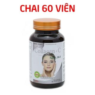 Viên uống COLLAGEN +C bổ sung collagen, vitamin e giúp chống lão hóa, cải thiện nếp nhăn - Hộp 60 viên dùng 30 ngày thumbnail