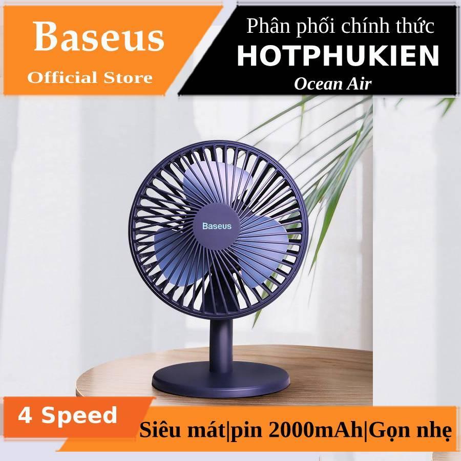 Quạt mini để bàn 4 chế độ làm mát hiệu Baseus Benks Ocean Air (nhiều chế độ làm mát, pin lên đến 4 giờ, siêu gọn nhẹ)(Bào hành 3 tháng 1 đổi 1) - Phân phối bởi Hotphukien