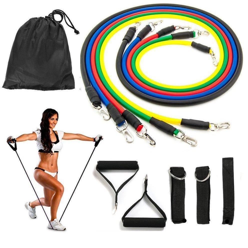 Bảng giá Bộ 5 dây đàn hồi tập thể hình cao cấp - dụng cụ tập gym - thể thao, Dụng Cụ Tập Gym Tại Nhà, Mua Ngay Bộ 5 Dây Đàn Hồi Tập Thể Hình, Nhiều Tư Thế Khác Nhau, Nhỏ Gọn, Dễ Sử Dụng, Tiện Lợi